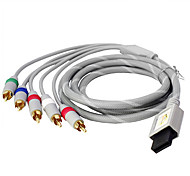 1.5M 4.92FT Wii 30Pin to 5RCA M/M Gold-Plated Copper Audio Video TV HD Display Connection Cable for Wii