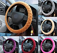 LEBOSH®Super Soft Crystal Velvet Steering Wheel Covers 9 Color for Choose 38cm