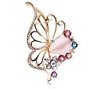 Butterfly Influx of People Brooch