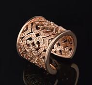 Women's Fashion Hollow Heart Diamante Open Ring(More Colors)