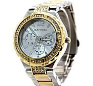 senhoras da mulher rodada pulseira de ouro relógio de quartzo fw836c