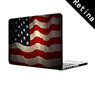 "The US flag Design  Full-Body Protective Plastic Case for 13""/15"" MacBook-Pro with Retina Display"