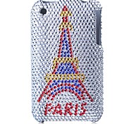 caso difícil paris torre Bling caso pc para iPhone 3G / 3GS