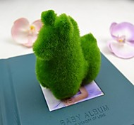 Cute Green Artificial Grass Alpaca for Car and Home Decoration