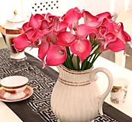 Multi-color PU Calla Lily Simulation Flower,Set of 8