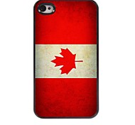Vintage The Flag of Canada Design Aluminum Hard Case for iPhone 4/4S