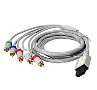 1.6m 5.248ft wii 30pin macho a macho 5RCA audio video cable de conexión de pantalla tv hd chapado en oro para wii