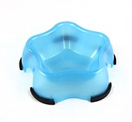 Star Style Plastic Food Bowl for Pet Dog Cat 300ML