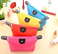 Candy Color Folding Waterproof Cloth Cosmetic Bag Handbag(Assorted Color)
