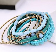 Fashion Korean Blue Couple Alloy Charm Bracelet(1pc)(Red)