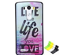 Letter Pattern PC Hard Case and Phone Holder for LG G3