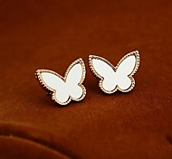 Golden Edge Butterfly Earrings