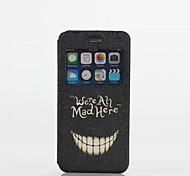 Bared Teeth Pattern Textile Full Body Case with Stand and Card Slot for iPhone 6