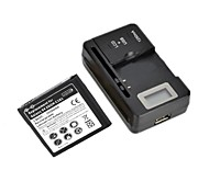 Replacement 2800mAh 3.7V Battery with LCD Battery Charger for Samsung Galaxy S4 ZOOM / C101 / C1010