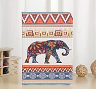 Elephant Pattern PU Leather Full Body Case with Stand and Card Slot for iPad mini 1/2/3