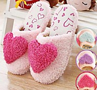Sweet Warm Big Love Heart Women's Slide Slippers