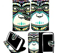 KARZEA™ Elephants Tribe PU Leather TPU Back Full Body Case Painting Card Holder Wallet Case for Samsung A3/A3000