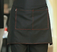Black Half-length Chef Apron