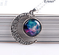 Eruner®Moon Pendant Moon Necklace Moon Jewelry Galaxy Universe Stars Space Gift for
