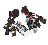 2pcs h11 35w 6000k xenón HID bombilla de repuesto kit de conversión de luz lámparas de luz de la lámpara cabeza del coche
