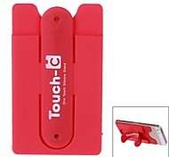 Touch-U Universal Portable Silicone Holder with Tape and Card Slot for Cellphone