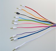 3.5 mm  Male to Male Color Small Noodles Audio Connection Cable Flat Type(1M) (Assorted Colors)