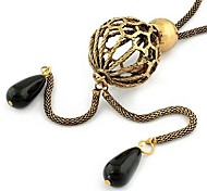 Fashion Ball Shape Sweater Chain And Alloy Y Necklace Random Color