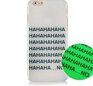 piccolo inglese lettera modello Luminated cassa posteriore dura per iPhone 6