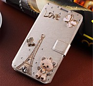 Wind-induced handmade diamond appearance clamshell PU case for samsung I8552 / I8558 all sorts of design options