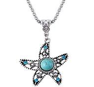 Cute Starfish Sapphire Necklace