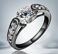 Modeeinzel schwarze Gold überzogene Legierungsrechnung Ringe (1pc)