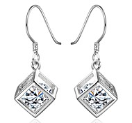 Silver Plated Crystal Earring Drop Earrings Wedding/Party/Daily/Casual/Sports 2pcs