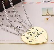 Eruner® 2015 New Style Broken Heart 3 Parts Pendant Necklace Best Bitches Necklace(3 pcs 1 set)