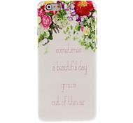 un estuche blando diseño hermoso día para el iphone 6