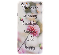Pink Flower Design Hard Case for iPhone 6