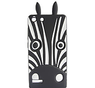 Black Zebra Pattern Soft Case for Huawei G6