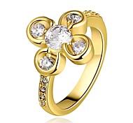 femmes de mode d'or anneaux d'or plaqué mode de zircon (or) (1pcs)