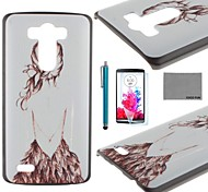 COCO FUN® Back Girl Pattern PC Hard Back Case with Screen Protector and Stylus for LG G3 D850