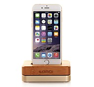 SAMDI Apple Phone Charger Base Metal Creative Wood Frame Bracket for iphone 4/4S5/5C/5S/6/6 Plus