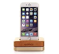 base di ricarica telefono Samdi mela metallo creativo staffa del telaio di legno per il iphone 4 / 4S5 / 5c / 5s / 6/6 più