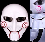Fabulous The Saw Figure Clown Mask Scary Practical Joke Gadgets for Halloween Costume Party