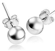 Sterling silver bead earrings6mm