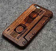 Pear Wood Apple Magnetic Tape Hard Back Cover for iPhone 6