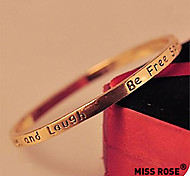 Miss ROSE®Fashion Alloy Letters of Be Free Bracelet\ \