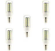 5W E14 LED Glühlampen 56 SMD 5730 450 lm Natürliches Weiß AC 220-240 V 5 Stück