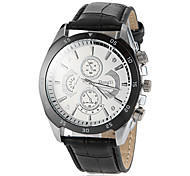 Men's Round Dial PU Leather Band Quartz Wrist Watch (Assorted Colors) Cool Watch Unique Watch