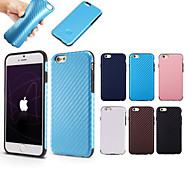 XUNDD High Quality Silicone +Leather Twill Thick Shockproof Soft  Back Cover Cases for iPhone 6 (Assorted Color)