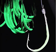 Fishing Hooks Fishing-60 pcs Light Green Carbon steel