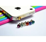 diseño de auriculares a prueba de polvo ShanZuan circular para el iphone y otros (colores surtidos)