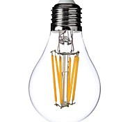 Dimmable  A60 E27 6W 6xCOB 600LM 2800-3000K  Warm White Light LED Filament Lamp (AC220V)